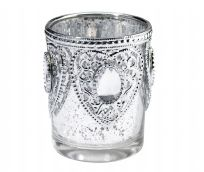 Lillian Rose Silver Candle Holders (3)